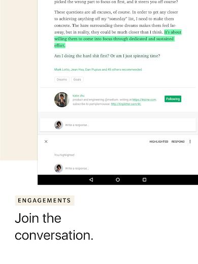Screenshot 13 for Medium's Android app'