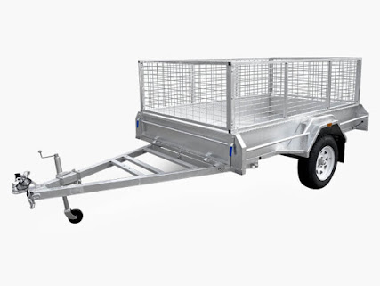 7 x 4 Galvanised Box Trailer Welded Sides Tiltable