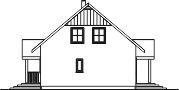 Domek Ciepły 012 ET 50 - Elewacja prawa