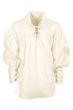 Musketörskjorta, vit