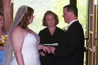 Photo: Ceremony in Progress 5/10 - Tablerock Lodge - Photo courtesy David Bridges - bridgesphoto.com - http://WeddingWoman.net