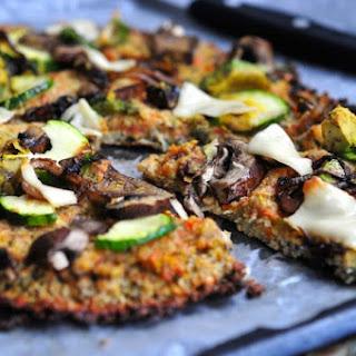 Vegan Cauliflower Crust Pizza.