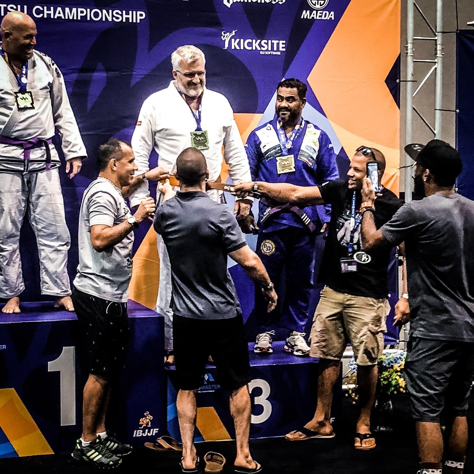 Jimbo Gets Bronze IBJJF Masters Worlds 2018. Charlotte Jiu-Jitsu Academy, GFT, Mau Mau, Arte Suave Jiu Jitsu, BJJ, Brazilian Jiu-Jitsu, 2018, Brown Belt Promotion
