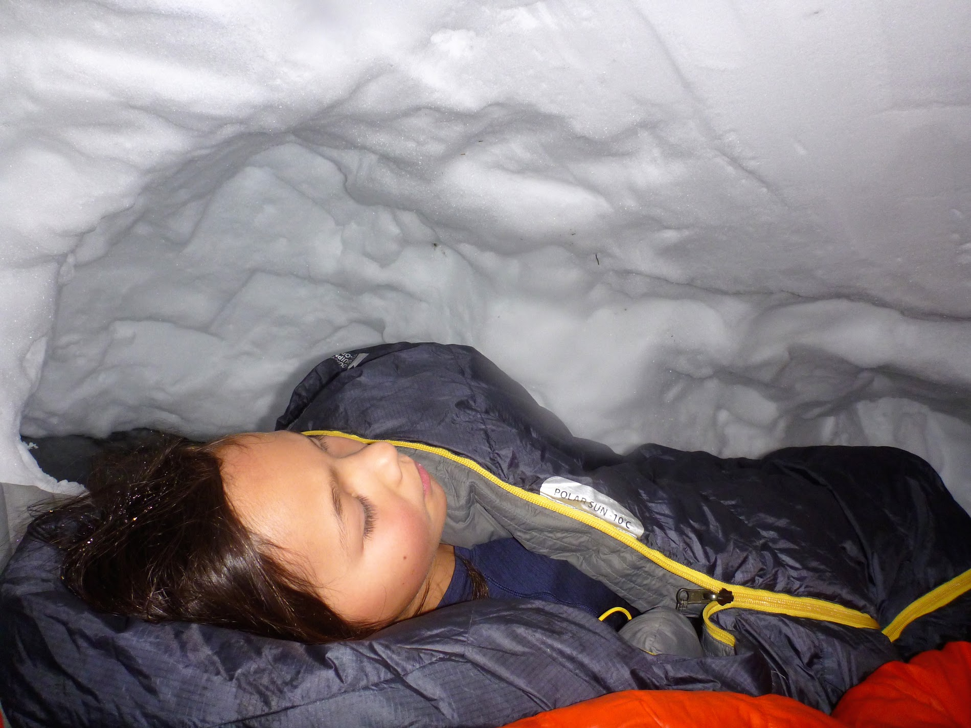 A shallow snowpack means a shallow snowcave.