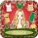 Merry christmas party dress up icon