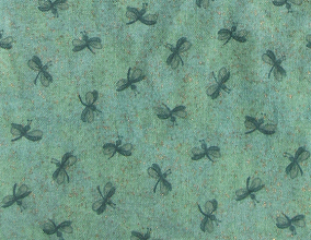Photo: 100% cotton, Green Dragonflies