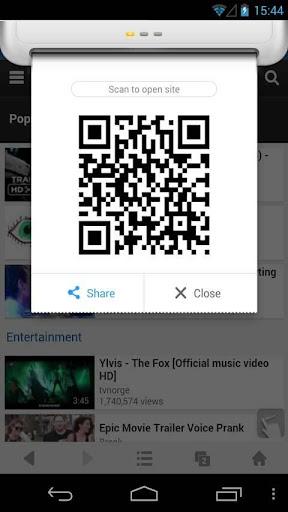 QR Code Generator - UC Browser screenshot 1