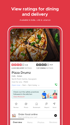 Zomato - Restaurant Finder and Food Delivery App screenshot 4