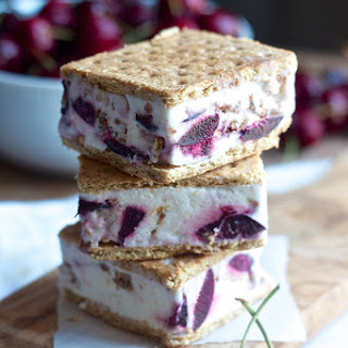 Cherry Crisp Ice Cream Sandwiches.