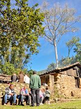 Photo: Visitantes da Farinhada na fachada do Engenho