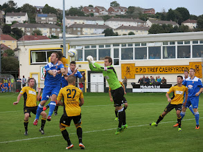 Photo: 12/10/13 v Bangor City (Welsh Premier League) 4-4 - contributed by Leon Gladwell