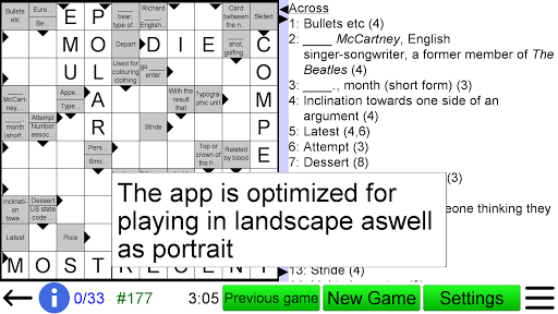 Arrow Crossword 2.0 screenshots 4