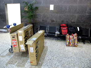 Photo: Year 2 Day 138 - At Melbourne Airport With our Bike Boxes and Bags