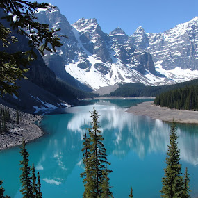 Spring in Alberta by Anastasiya Manuilov - Landscapes Mountains & Hills ( mountains, canada, bannf, lake )