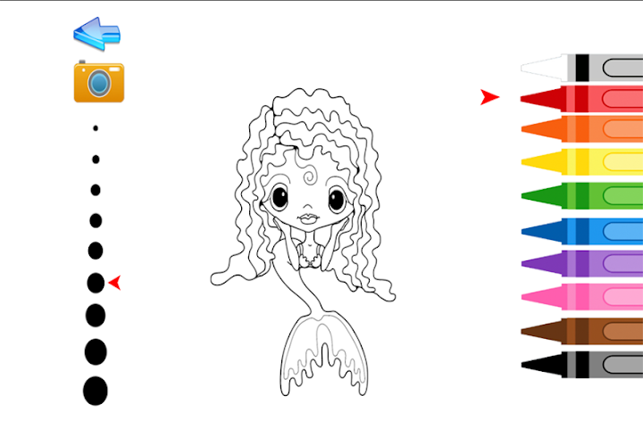 android Kids Coloring Mermaid Screenshot 3