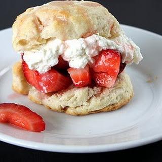 Strawberry Shortcake with Buttermilk Biscuits.