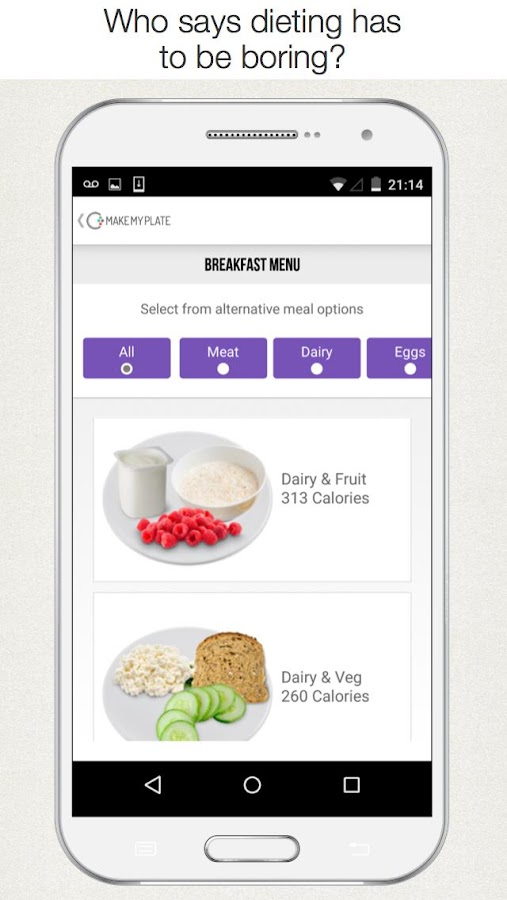 MakeMyPlate Diet Meal Planner- screenshot