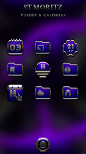 St. Moritz Icon Pack HD blue black Screenshot