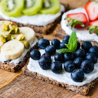 Clean Eating Fruit + Ricotta Toast.