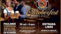 Cartel de la Oktoberfest Almería.