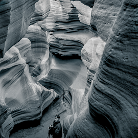 by Judy Rosanno - Black & White Landscapes ( navajo sandstone, rock, antelope canyon, formations, arizona )