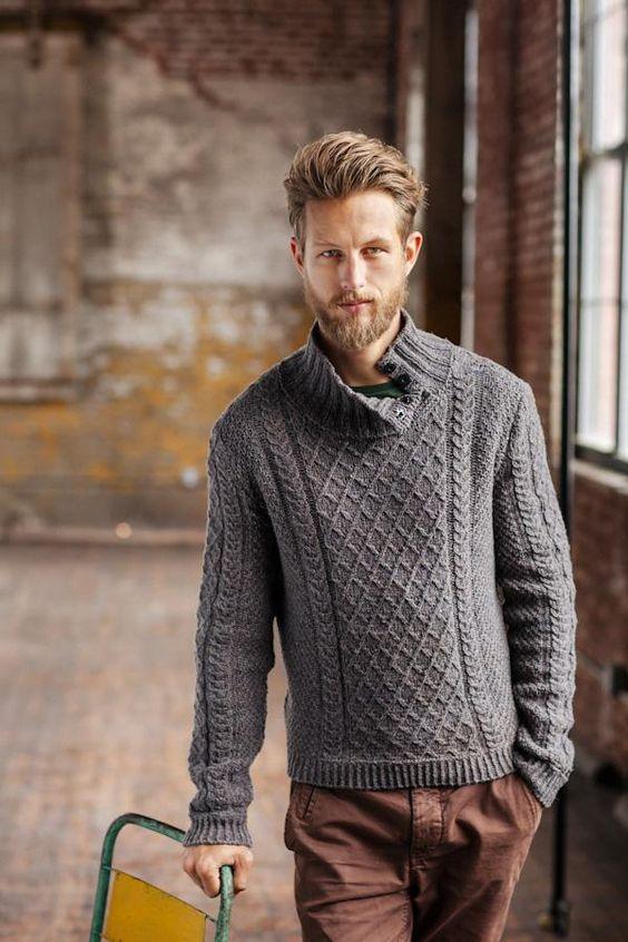 Man wearing a rugged sweater