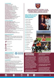 West Ham United FC Programme- screenshot thumbnail