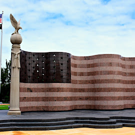 Granite Flag by Ruth Overmyer - Buildings & Architecture Statues & Monuments (  )