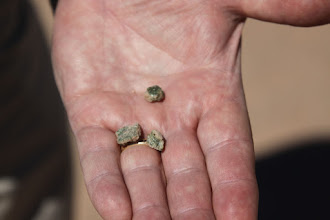Photo: Trintite I picked up from the site and returned to the ground after photographing it.