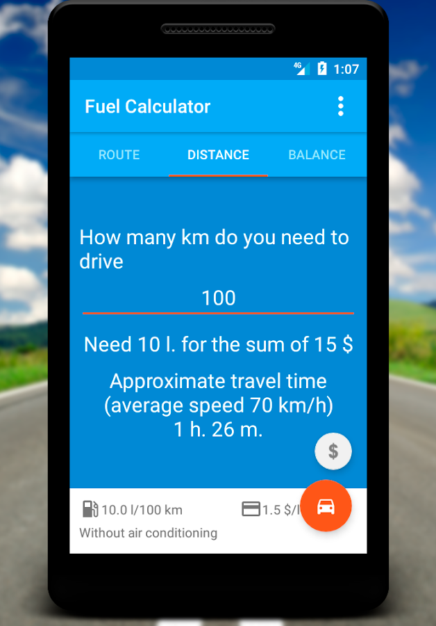 Fuel Calculator- screenshot