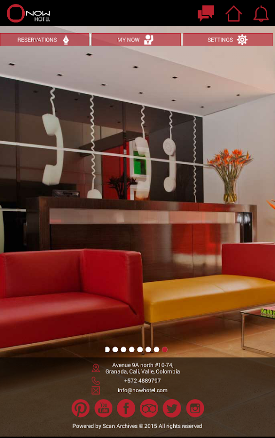 NOW Hotel Cali, Colombia- screenshot