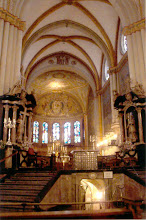 Photo: This is the interior of the Bonn Cathedral. It had lovely mosaics and stained glass windows.