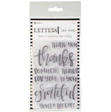 Ranger Letter It Clear Stamp Set 4X6 - Thank You
