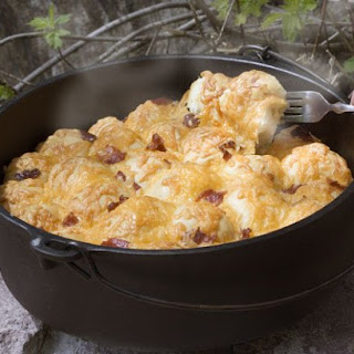 Dutch Oven Bacon Cheese Pull Aparts.