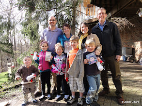 "Photo: Nelson & Gillard families visit home of ""...In the Woods"""