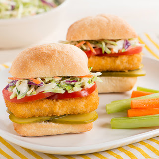 Fish Sandwich with Tangy Dill Coleslaw