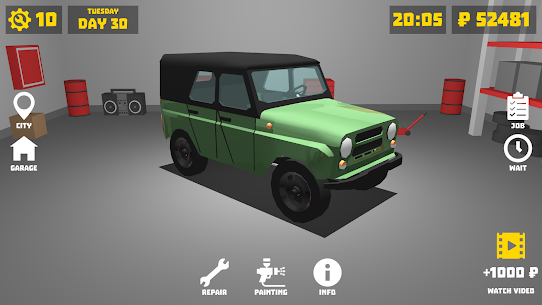 Retro Garage – Car Mechanic Simulator Mod Apk (Unlimited Money) 1.7.4 3