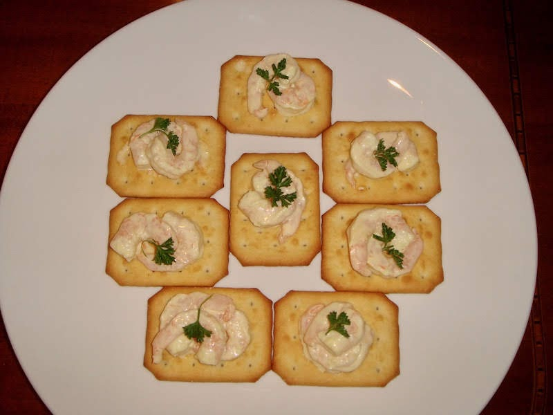 Chinese Shrimp in Hot Mustard Crostini Recipe