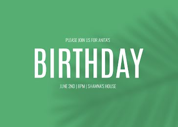 Anita's 42nd Birthday - Birthday Card Template