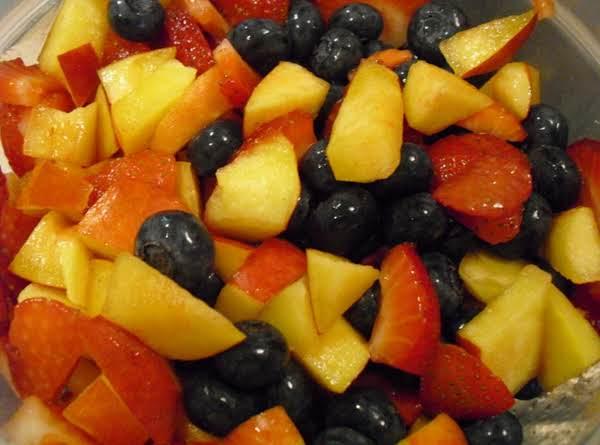 Strawberries, Blueberries And Nectarines.