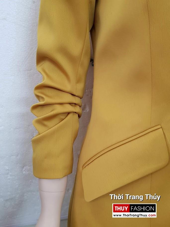 Áo vest nữ vải lụa tay xếp ly V691 thời trang thuỷ