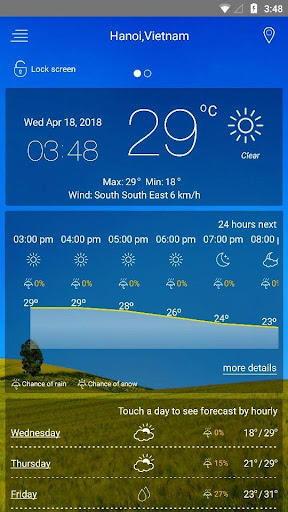 weather forecast 8.00 screenshots 1