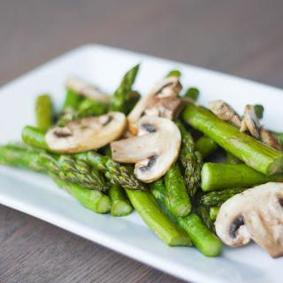 Roasted Garlic Asparagus and Mushrooms.
