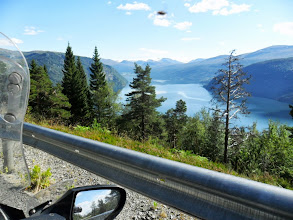 Photo: Riding around a fjord again...