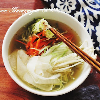 Vegan Naengmyun (Korean Cold Noodle Soup) Recipe