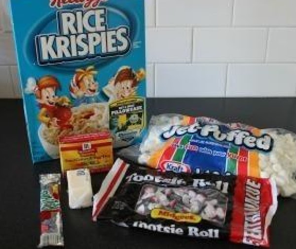Mix in Rice KrispiesForm small balls into the shape of a pumpkin (Tip: Add...
