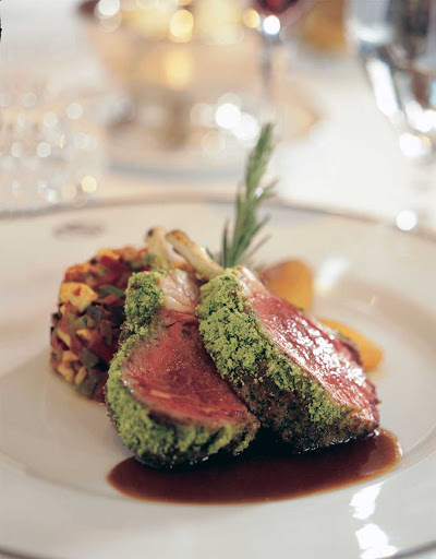 Seadream-lambchops.jpg - Explore the flavors of the Mediterranean on a SeaDream cruise.