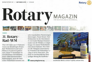 Photo: Thanks to the German Edition of the Rotary Magazin for the Report later in in October
