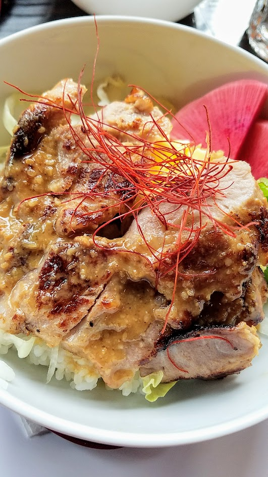 Marukin Ramen Updated Manu includes a new pan fried Jorinji miso pork over rice dish utilizing local pork and local miso