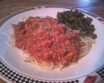 Chicken Spaghetti With Smoked Sausage Recipe